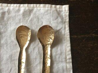 真鍮のミニスプーンの画像