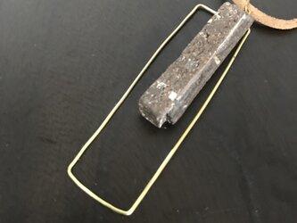 焼締「rectangle」&真鍮の革紐チョーカーの画像