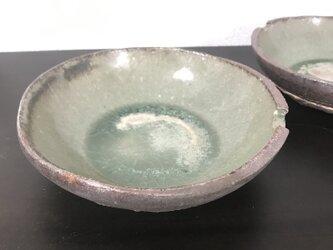 灰釉&泥彩小鉢「月」の画像