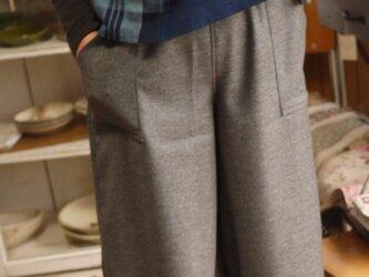 アンゴラ混ウールキュロットスカートの画像
