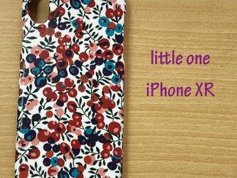 【リバティ生地】ウイルトシャー レッド&ネイビー  iPhoneXRの画像