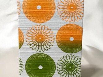 御朱印帳 グリーン&オレンジの画像