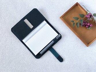【再販】本革の手帳カバー①  dark Blueの画像