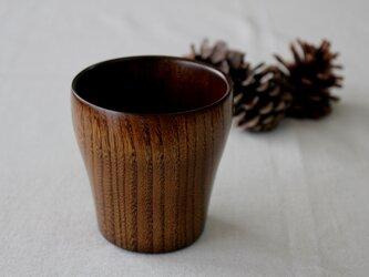 拭き漆 栗のカップの画像