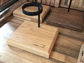 家カフェ オーク材のコーヒードリップスタンド 【オーダーメイド可】の画像