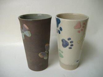 【SALE】理由有り蝶のレリーフカップ&猫のカップの画像