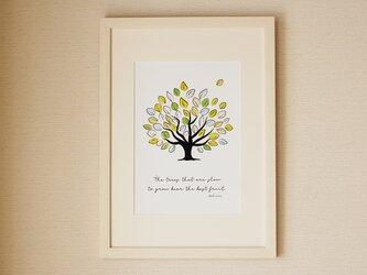 爽やかな木のポスター♪ グリーン 北欧の画像