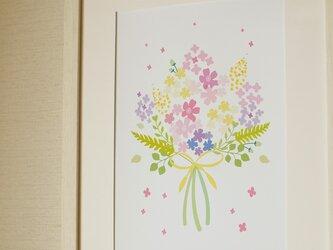 可愛いお花のブーケ ♪ ボタニカル アート 北欧の画像