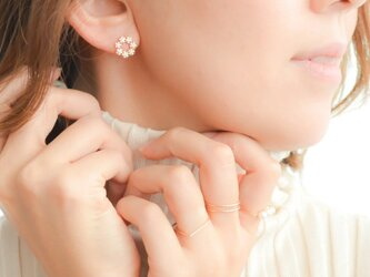 Crystal of snow cz pierce/earring(silver925post)の画像