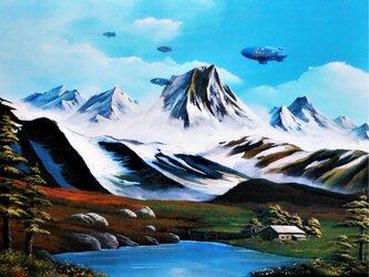 飛行船の風景の画像
