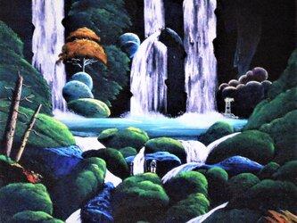 滝を眺めるの画像