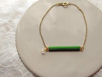 グリーン系チェンジガラス・ブレスレットの画像