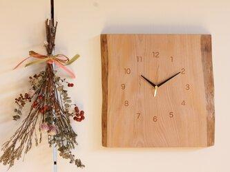 無垢の木の掛け時計  HCT-1804ミズメザクラの画像