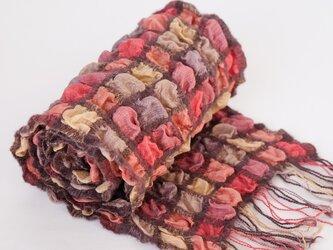 手織りシルクストール【彩雲*05】の画像
