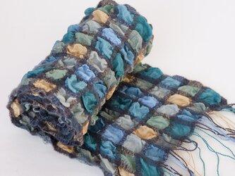 手織りシルクストール【彩雲*06】の画像