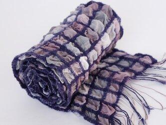 手織りシルクストール【彩雲*08】の画像