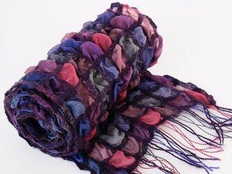 手織りシルクストール【彩雲*10】の画像