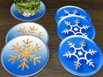 雪の結晶デザインのコースター♪の画像