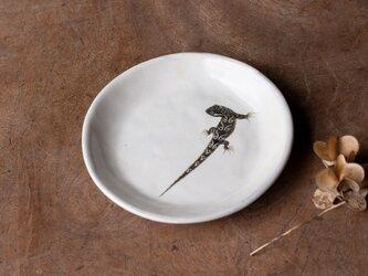 粉引丸皿(トカゲ)【クリックポスト198円可】の画像