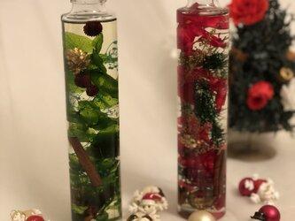 クリスマス用ハーバリウム【2本セット】の画像