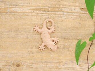 【チビ】家守(ヤモリ)さま壁飾り 尾和 アカの画像