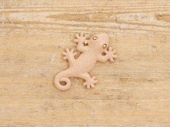 【チビ】家守(ヤモリ)さま壁飾り 尾巻 アカの画像