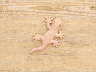 【チビ】家守(ヤモリ)さま壁飾り 尾直 アカの画像