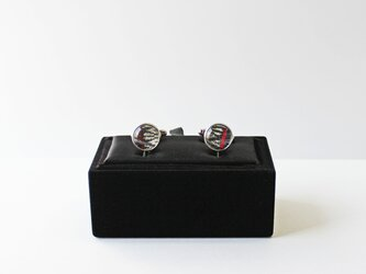 博多織カフスボタン(caf-02)父の日ギフト 博多献上 ネイビー 青 箱付きの画像
