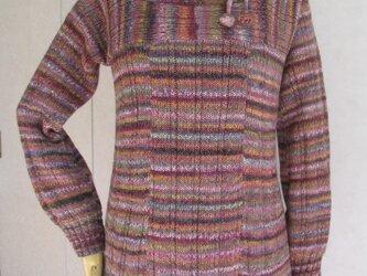 ハイネックのチュニックセーターの画像
