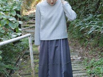 着物リメイク ストライプスカートの画像