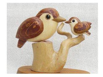 野鳥親子の画像
