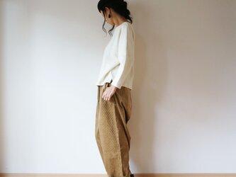 Cotton wool drop shoulder knit LADY'S OFF/Wの画像