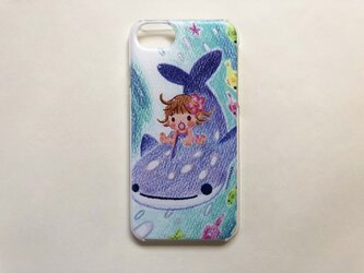 ジンベイザメと海の散歩 iPhoneハードケースno.101の画像
