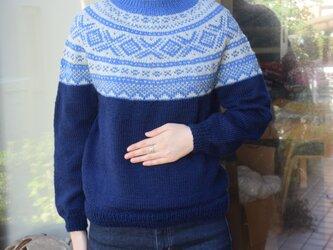 紺色の変わりマリウスセーターの画像