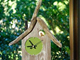【送料無料】とりっこハウス壁掛け時計、置き時計-13の画像