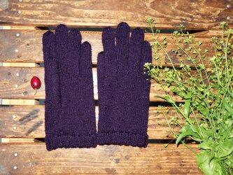 スマホの小窓付き手袋の画像