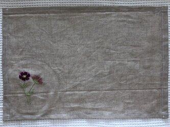 刺繍のランチョンマット☆コスモスの画像