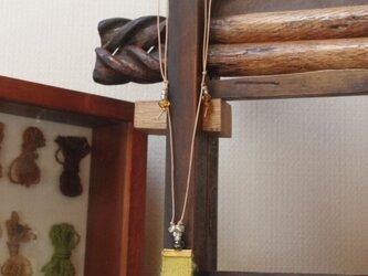 草木染の黄色 織・ペンダント ウール×麻 セイタカアワダチソウの画像