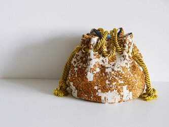 数量限定 ジャガードマリンバッグ ゴールドの画像
