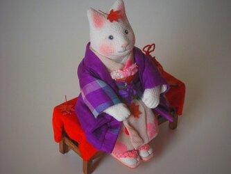 縮緬福猫 紅葉猫(もみじねこ) その六の画像