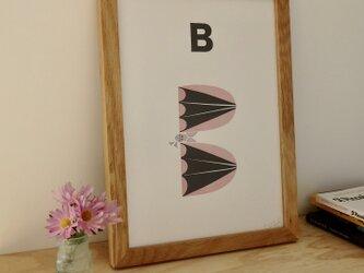 B for Bat A4サイズポスターの画像
