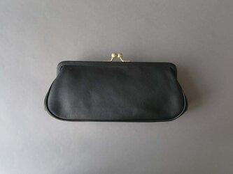 plain gama long wallet (black)の画像