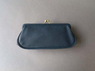 plain gama long wallet (blue)の画像