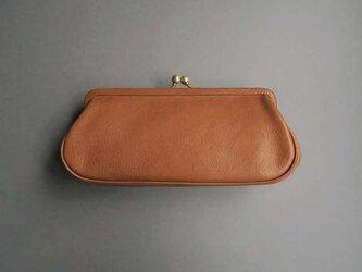 plain gama long wallet (brown)の画像