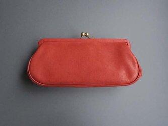 plain gama long wallet (red)の画像