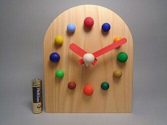 クリスマスプレゼントにうれしいカラフルぽっちの時計の画像