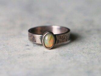 古代スタイル*天然オパール 指輪*11.5号 SVの画像