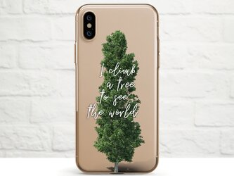 I Climb a Tree to See The World クリアソフト ケースの画像