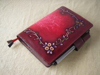 ほぼ日手帳対応 牛革文庫サイズ手帳 刻印&拭き染め の画像