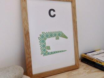 C for Crocodile A4サイズポスターの画像